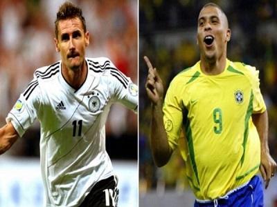 El alemán Klose iguala la marca de Ronaldo con 15 goles en los Mundiales