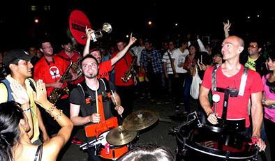 Fiesta de pueblo en el marco de festejos provinciales