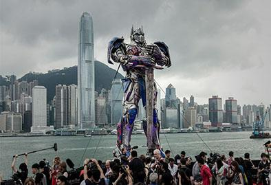 Figura gigante de Optimus Prime aparece en China