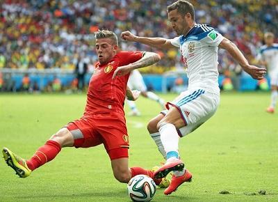 Bélgica clasifica a octavos de final tras vencer 1-0 a Rusia