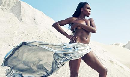 Venus Williams posó desnuda para una revista -
