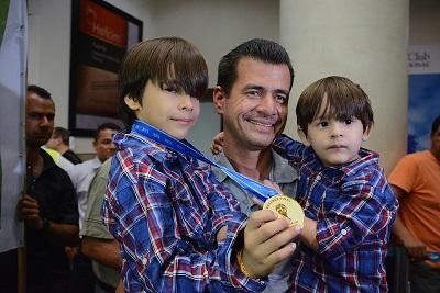 El manabita Carlos Vera llegó a Ecuador tras su participación en el Mundial