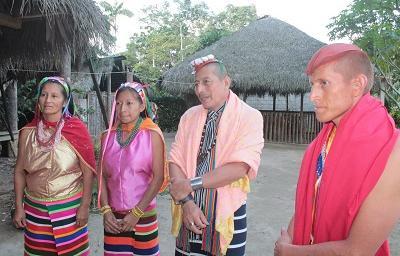 Tsáchilas preparan el sexto Encuentro Ancestral de Nacionalidades