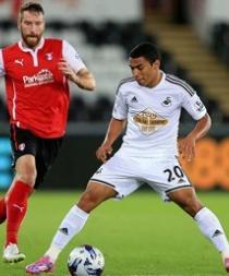 El Swansea de Jefferson Montero golea 3-0 al West Bromwich