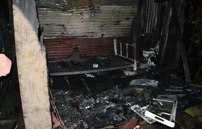 Hombre muere calcinado en el interior de su vivienda