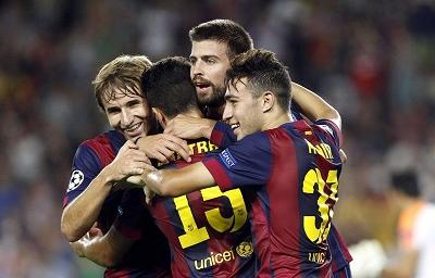 FC Barcelona ganó 1-0 al Apoel en el estadio Camp Nou