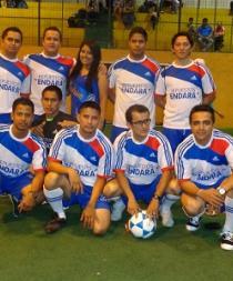 Empresas públicas y privadas participan en torneo de fútbol-sala