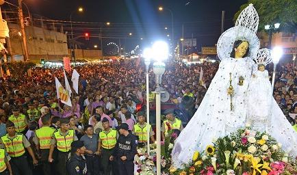 Misa y procesión a la Virgen de La Merced cierran fiestas patronales