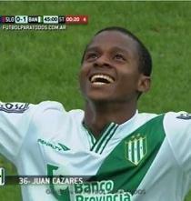 Video: Ecuatoriano Juan Cazares anotó un golazo en victoria del Banfield