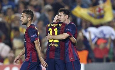 Barcelona venció 3-1 al Ajax en el estadio Camp Nou