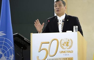 Presidente Correa aboga por la creación de una moneda regional