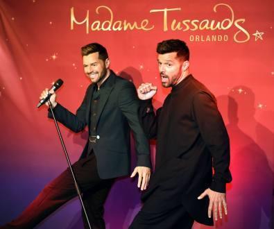 Ricky Martin conoce a su doble del Museo Madame Tussauds