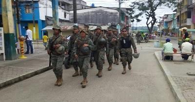 Militares resguardan el Municipio de Muisne ante inestabilidad política