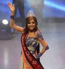 Prima de exMiss Ecuador, Constanza Báez, es la nueva Reina de Quito