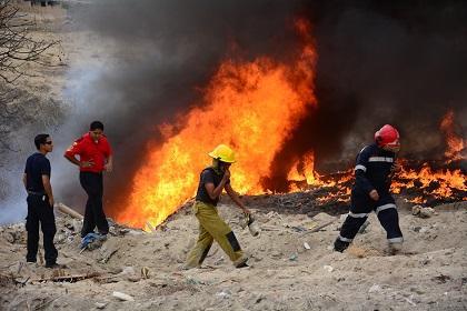 Quema de llantas y basura preocupó a moradores de Montecristi