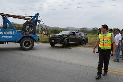 Accidente de tránsito en Chone dejó tres heridos