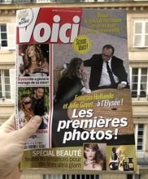 Publican fotos del presidente francés y Julie Gayet juntos en el Palacio del Elíseo