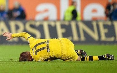 Marco Reus estará fuera de las cancha por tres meses