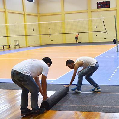 Cancha de voleibol tendrá piso de material sintético