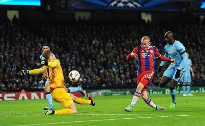 Agüero salva al Manchester City de una derrota ante el Bayern Múnich