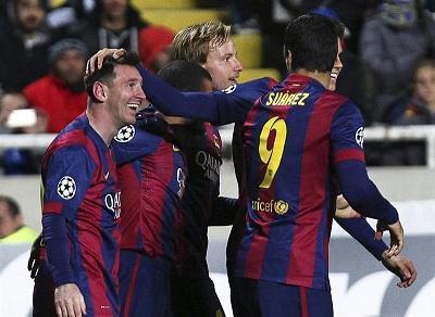 Con hat-trick de Messi el Barcelona goleó 4-0 al Apoel