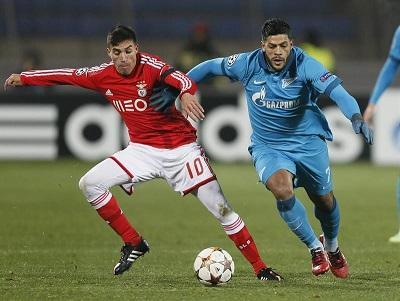 El Zenit sigue soñando al derrotar a un pobre Benfica