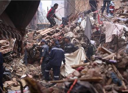 10 muertos en derrumbe de edificio