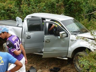 Tres personas resultan heridas en diferentes accidentes de tránsito