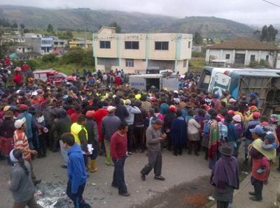 Seis muertos y 58 heridos tras accidente en la provincia de Cotopaxi