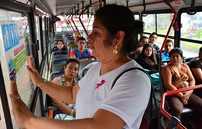 Realizan jornada de sensibilización en los buses de Santo Domingo