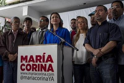 Machado asegura ser imputada por decir que hay dictadura en Venezuela