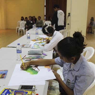 Se realizó un concurso intercolegial de dibujo