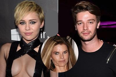 Esposa de Arnold Schwarzenegger desaprueba la relación de su hijo con Miley Cyrus
