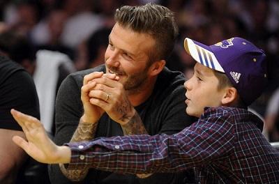 David Beckham y su hijo mayor sufren un accidente de tránsito en Londres