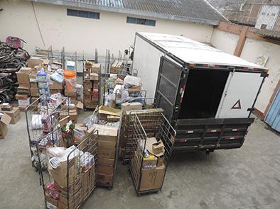 Recuperan 21 cerdos y 2 camiones robados