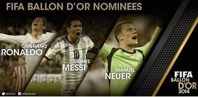 Neuer, Messi y Ronaldo, finalistas al Balón de Oro