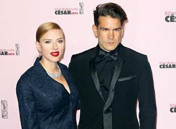 Scarlett Johansson contrajo matrimonio en secreto con Romain Dauriac