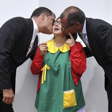 """""""La Chilindrina"""" recibió saludo de Correa y Glas"""
