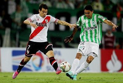 Atlético Nacional y River Plate empatan 1-1 en la final de ida