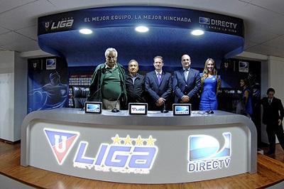 Liga de Quito y Directv inauguran sala de prensa