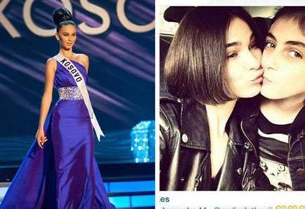 Finalista del Miss Universo tiene relación con mujer