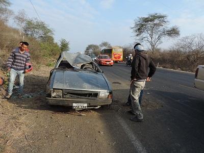 Accidente de tránsito deja un herido en la vía La Pila – Jipijapa