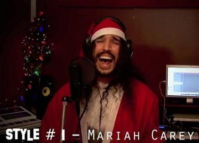 Cantó una canción de Navidad imitando a 20 estrellas de la música