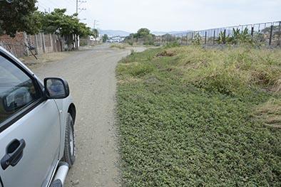 Vecinos piden reparación de una calle