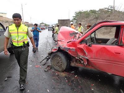 La lluvia provoca tres accidentes en Manta