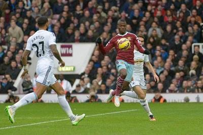 El West Ham de Enner Valencia venció al Swansea por 3-1
