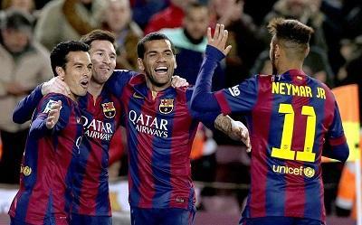 El FC Barcelona golea por 5-1 al Espanyol de Felipe Caicedo (fotos)