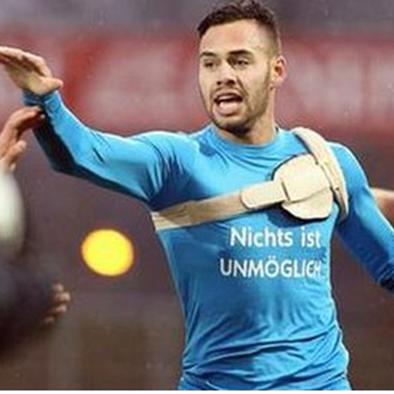 Futbolista alemán con desfibrilador marcó gol