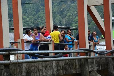 Moradores de la parroquia Alluriquín esperan obras para el buen vivir