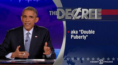 Obama parodia a sus críticos en un programa de televisión